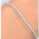 Diamond Tennis Bracelet Chloe 3.00ct Premium Claw Set 18K White Gold - image 3