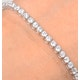 Chloe Lab Diamond Tennis Bracelet  5.00ct G/VS Set in 18K White Gold - image 3