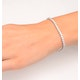 Chloe Lab Diamond Tennis Bracelet  5.00ct G/VS Set in 18K White Gold - image 4