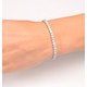Diamond Tennis Bracelet Chloe 6.00ct H/Si Claw Set in 18K White Gold - image 4