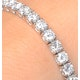Diamond Tennis Bracelet Chloe 6.00ct Premium Claw Set 18K White Gold - image 3