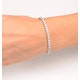 Diamond Tennis Bracelet Chloe 6.00ct Premium Claw Set 18K White Gold - image 4