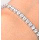 Chloe Lab Diamond Tennis Bracelet  7.30ct F/VS Set in 18K White Gold - image 3