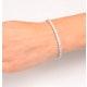 Chloe Lab Diamond Tennis Bracelet  7.30ct F/VS Set in 18K White Gold - image 4