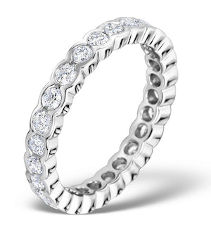 Eternity Ring Emily Diamond 1.15ct H/Si and 18K White Gold