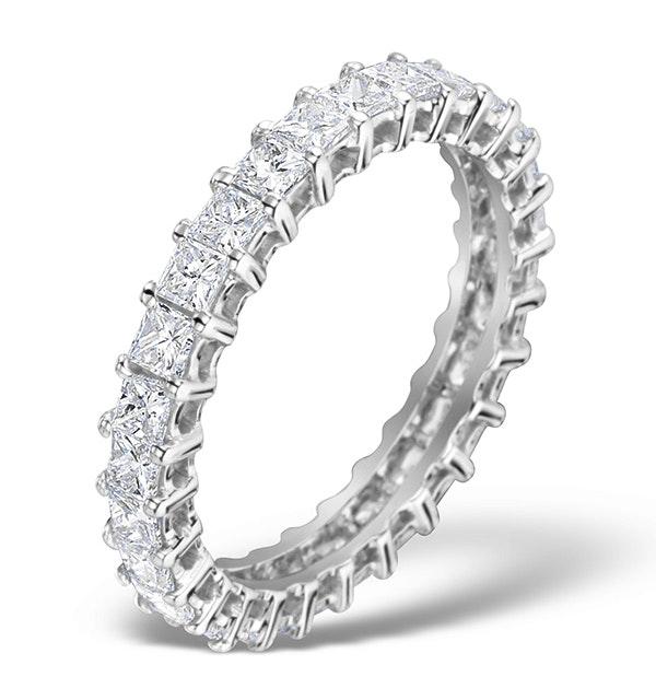Eternity Ring Lauren Diamond 2.00ct and Platinum - image 1