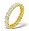 Eternity Ring Lauren Diamond 3.00ct H/Si and 18K Gold - image 1