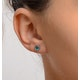 Emerald 5 x 4mm 18K White Gold Earrings - image 4