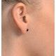 Sapphire 7mm x 5mm 18K Yellow Gold Earrings - image 2