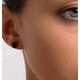 Sapphire 7mm x 5mm 18K White Gold Earrings - image 4
