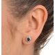 Emerald 6 x 4mm And Diamond 18K Yellow Gold Earrings  FEG25-G - image 3