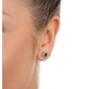 Emerald 6 x 4mm And Diamond 18K Yellow Gold Earrings  FEG25-G - image 4