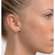 Sapphire 5mm x 3mm And Diamond 18K White Gold Earrings - image 4