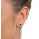 Emerald 6 x 4mm And Diamond 18K Yellow Gold Earrings - image 3