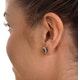 Emerald 6 x 4mm And Diamond 18K Yellow Gold Earrings - image 4