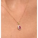 Ruby 6 x 4mm And Diamond 18K Yellow Gold Pendant - image 3