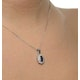 Sapphire 6 x 4mm And Diamond 18K White Gold Pendant FER26-UY - image 4