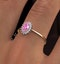 18K Gold Diamond and Oval Pink Sapphire Ring 0.08ct - image 4