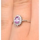 18K White Gold Diamond and Pink Sapphire Ring 0.08ct Fet20-Ruy - image 4