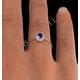 Tanzanite 6 x 4mm And Diamond 18K Gold Ring - image 4