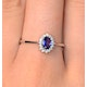 Tanzanite 6 x 4mm And Diamond 18K White Gold Ring  FET20-VY - image 3