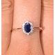 Sapphire 6 x 4mm And Diamond 18K Gold Ring  FET20-U - image 4