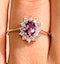 18K Gold Diamond and Pink Sapphire Ring 0.14ct - image 3