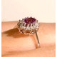18K Gold Diamond and Pink Sapphire Ring 0.14ct - image 4