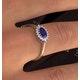 Tanzanite 6 x 4mm And Diamond 18K Gold Ring  FET21-V - image 3