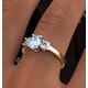 Aquamarine 0.70ct and Diamond 0.50ct 18K Gold Ring  FET23-C - image 4