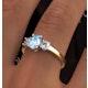 Aquamarine 0.70ct and Lab G/Vs Diamonds 0.50ct 18K Gold Ring FET23-C - image 4