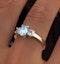 Aquamarine 0.70ct and Diamond 0.50ct 18K Gold Ring  FET23-C - image 4