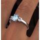 Aquamarine 0.70ct and Diamond 0.50ct 18K White Gold Ring - image 4