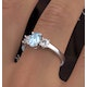 Aquamarine 0.70ct and Lab Diamonds G/Vs 0.50ct 18K White Gold Ring - image 4
