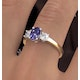 Tanzanite 7 x 5mm And Lab Diamonds G/Vs 18K Gold Ring FET23-V - image 4