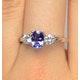 Tanzanite 7 x 5mm And Lab Diamonds G/Vs 18K White Gold Ring - image 3