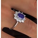 Tanzanite 7 x 5mm And 0.50ct Diamond 18K White Gold Ring - image 3