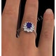 Tanzanite 7 x 5mm And 0.50ct Diamond 18K White Gold Ring - image 4