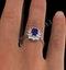 Tanzanite 7 x 5mm And 0.50ct Diamond 18K White Gold Ring - image 4