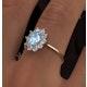 Aquamarine 0.70ct and Diamond 0.50ct 18K Gold Ring - image 4