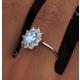 Aquamarine 0.70ct and Diamond 0.50ct 18K White Gold Ring  FET25-CY - image 4