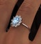 Aquamarine 0.70ct and Diamond 0.50ct 18K White Gold Ring  FET25-CY - image 4