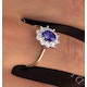 Tanzanite 7 x 5mm And Diamond 0.50ct 18K Gold Ring - image 4