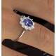 Tanzanite 7 x 5mm And 0.50ct Diamond 18K White Gold Ring  FET25-VY - image 4