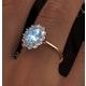 Aquamarine 1.10ct and Diamond 0.50ct 18K Gold Ring - image 4