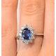 Sapphire 1.55ct And Diamond 0.50ct 18K White Gold Ring - image 3