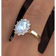 Aquamarine 1.70ct and Diamond 1.00ct 18K Gold Ring - image 4