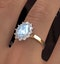 Aquamarine 1.7ct and Lab Diamond 1.00ct Cluster Ring in 18K Gold - image 4