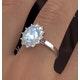 Aquamarine 1.70ct and Diamond 1.00ct Platinum Ring - image 4