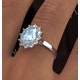 Aquamarine 1.70ct and Diamond 1.00ct 18K White Gold Ring - image 4